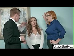 Office Sex With Sluty Big Juggs Teen Girl (Lauren Phillips & Lena Paul) vid-15
