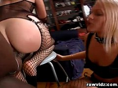Two Sex Slaves Begs For Master's Big Black Cock