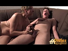 German Threesome with granny and wife