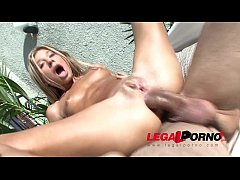 Tiny Victoria Tiffany fucked hard in the ass under the sun