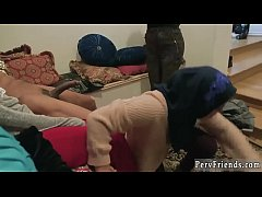 Crazy hot orgy Group of arab teen