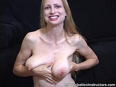 Naked jerk off teacher teases using her t ...