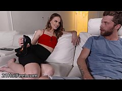 Jillian Janson Footsie Fun on Big Dick B4 Drilling