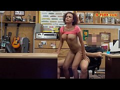 Big boobs ebony railed at the pawnshop