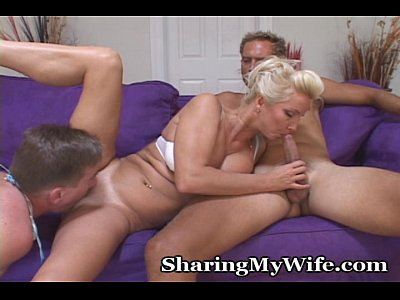 Group Blonde Facial video: Never Too Old For A Threesome