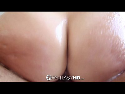 Brunette Cumshot Hd video: FantasyHD - Super oiled up sexy shower time fuck for Lily Love