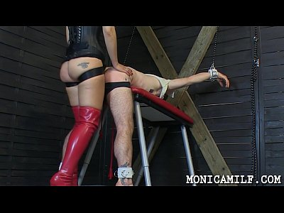 Strapon Femdom Mistress video: Hard femdom and pegging by norwegian monicamilf