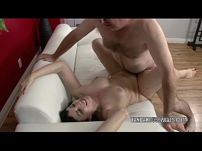 Brunette Cougar Fucking video: Busty MILF Claudine gets her mature twat fucked hard
