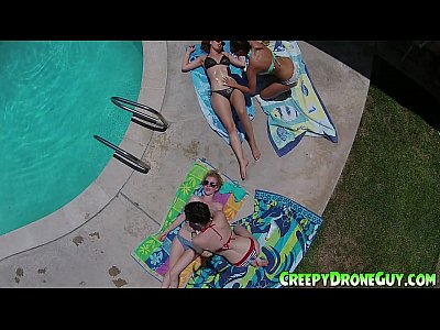 Lesbians filmed by a drone