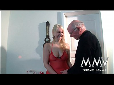 Blowjob Cumshot German video: MMV Films Teen girl fucked by a grandpa