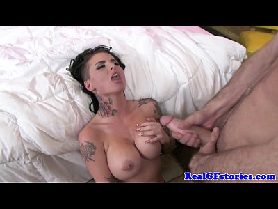 Milf Mature video: Exgf with tatts swallowing his cum