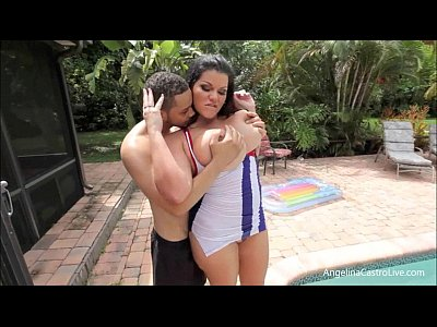 Handjob Milf Busty video: Angelina Castro Suck and Fuck in Cuban Flag