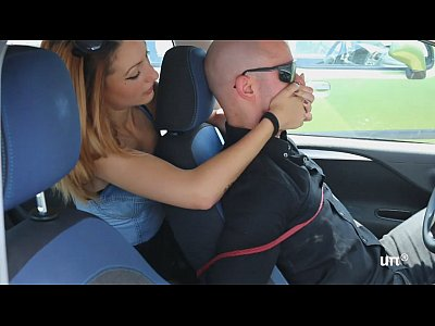 Italian Femdom Foot video: UNP001- Brat Car- Italian Girl Foot Smothering Man- Free
