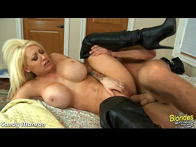 Blonde Pornstar Boots video: Blonde Candy Manson fucking