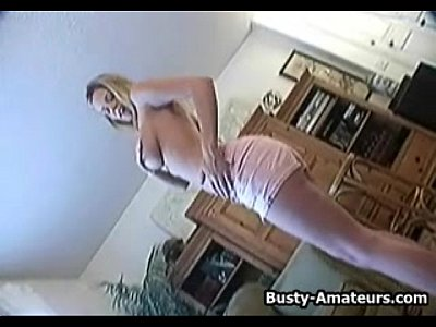 Bigtits Boobs Bustyamatuers video: Busty amateur Lisa playing her boobs and pussy