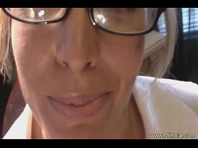 Blowjob Cougar Facial video: Bad MILF Secretary Cannot Fire