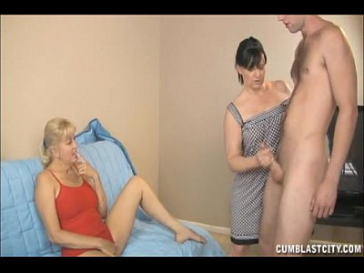 Handjob Milf Mature video: Two Mature Ladies Ask For A Cumshot