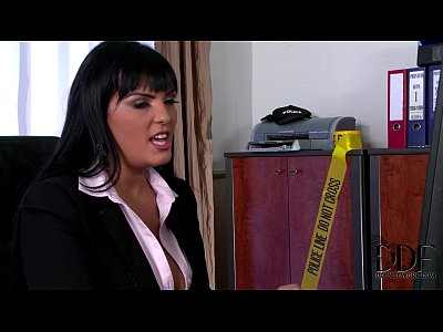 Lingerie Tits Sex video: Busty Detective Jasmine Black Titty Fucks & Sucks Suspect