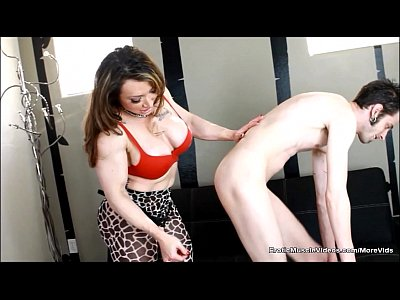 Fetish Muscle Bigtits video: EroticMuscleVideos StrapOn BrandiMae