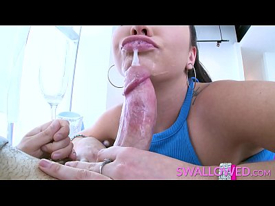 SWALLOWED Big tit Karlee Grey rough throat fuck