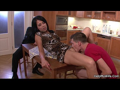 Fuckmywife Cuckoldhusband Wifeshare vid: Old husband watching brunette cuckolds