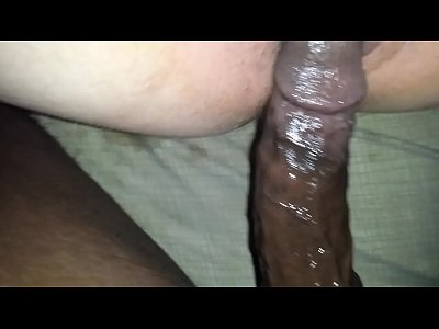 Amateur Black Bouncing video: she gets super wet