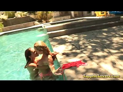 Brett Celeste Couples video: Awesome lesbian sex in the pool