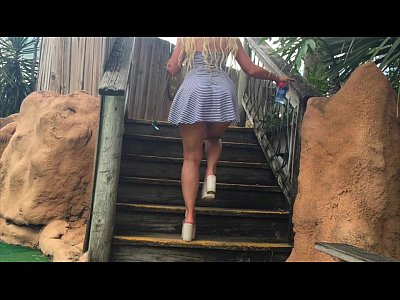 "Blonde Babe xxx: Hot Blonde ""kelley Cabbana"" fingers pussy in PUBLIC mini golf"