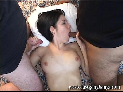 Gangbang Gangbangs Westcoast video: Allie gets gangbanged for the first time