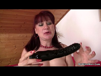 Motherinlaw Motherinlaw Mywifesmom video: Girlfriends mother uses dildo then rides cock