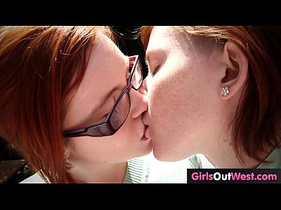 Hairy Babes Fingering video: Lesbian redheads lick and finger hairy pussies