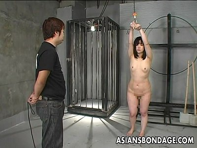 Asian Japanese Bdsm video: Japanese girl whipped and bound