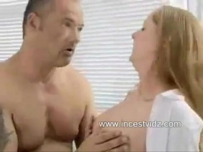 Tasty Lunch video: Daughter and father food lunch in pussy