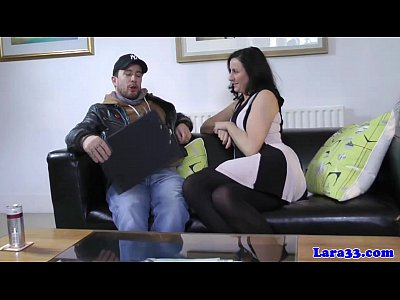 British Stockings porno: British milf cockriding in stockings