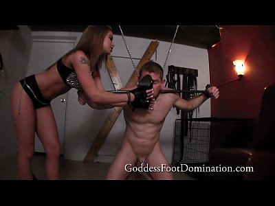 Domination Dominatrix Footfetish video: Adrianna's Foot Slave Foot Cleaner