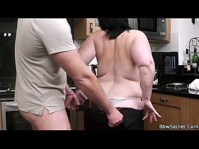 Bbwcheating Cheatingbbw Cheatingfatwife video: Chubby cheating on the kitchen