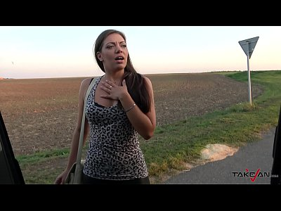 Big babe show the way home & fuck like an animal before reach it