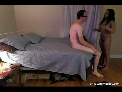 Black Cowgirl Cunnilingus video: White guy fucks black hooker at home.