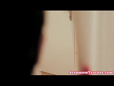 Peeping stepmom Nia Black joins teen couple