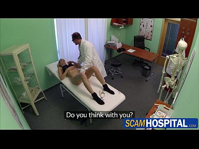 Doctor European Pornstar video: Damn blonde tourist chick gets fucked by the doctor in the examining table