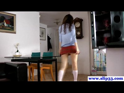 Shaved Deepthroat Gagging video: Casted polish schoolgirl amateur loves to gag