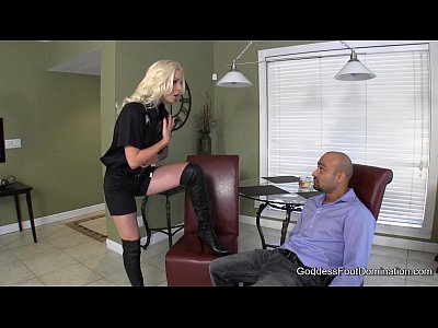 Femdom Foot Footfetish video: Probation Officer's Boot Bitch - Femdom Boot Fetish