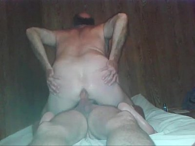 Mature gay man sitting on big cock - biggaydaddy.com/hotguys