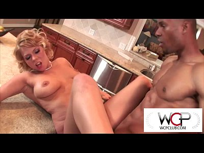 Interracial Blonde Blowjob video: West Coast Productions Housewife gone black