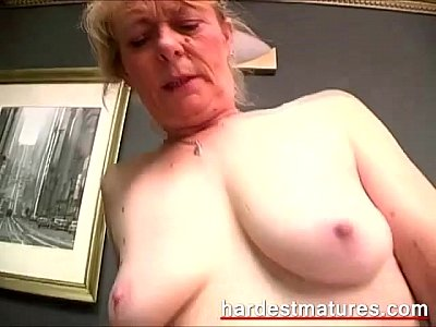 Hardcore Grannies Milf video: Hairy granny snatch filled