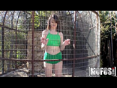 Mofos - Leggy Brunette in a Cage