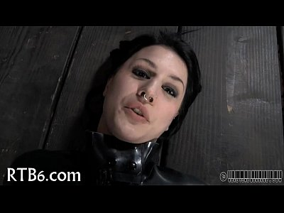 Bdsm Sex Fetish video: Gagged and bounded for torment