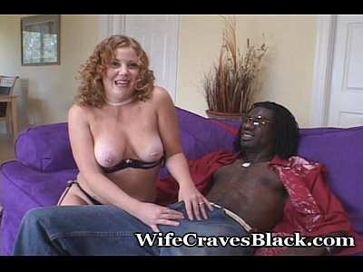 Blowjob Couples Cumshot video: Little Mrs. Redhead Fucks Big Black Cock