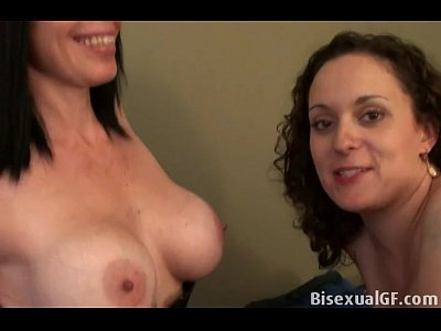 Fingering Tits video: Two friends are having sex on the bed