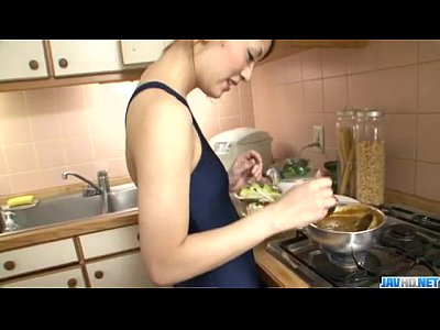 Amateur Asian Japanese video: Oral adventure at home along young Yuu Mahiru